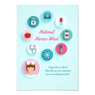 El nacional cuida la tarjeta de la semana invitación 12,7 x 17,8 cm