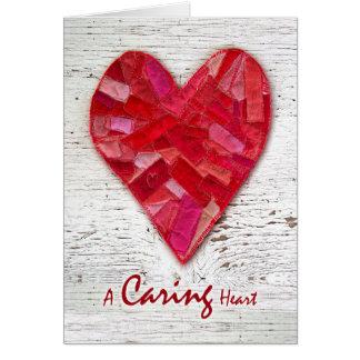El nacional feliz cuida la semana, corazón cosido tarjeta