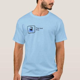El nadar -- Pequeño logotipo -- Personalizable Camiseta
