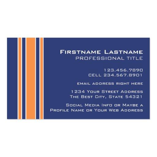 El naranja azul se divierte el jersey con nombre y tarjetas de visita
