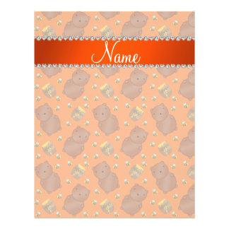 El naranja conocido lleva el modelo de las abejas folleto 21,6 x 28 cm