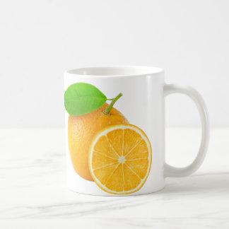 El naranja da fruto taza