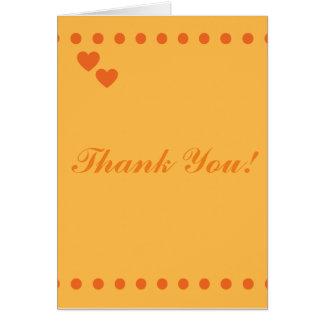 El naranja elegante le agradece cardar tarjeta de felicitación