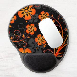 el naranja florece arte del vector alfombrillas de raton con gel