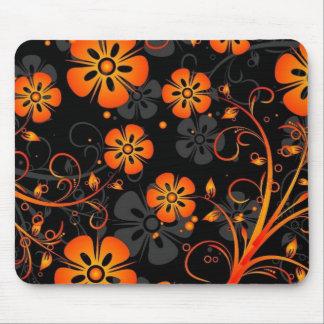 el naranja florece arte del vector alfombrillas de raton