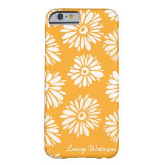 El naranja florece la caja del iPhone 6 Funda De iPhone 6 Barely There