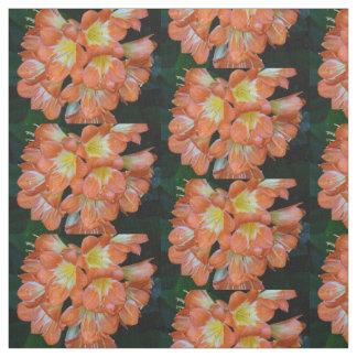 El naranja florece la tela de algodón de Pima