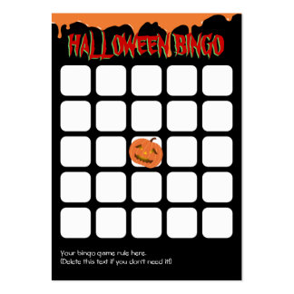 El naranja gotea la tarjeta del bingo de la tarjetas de visita grandes