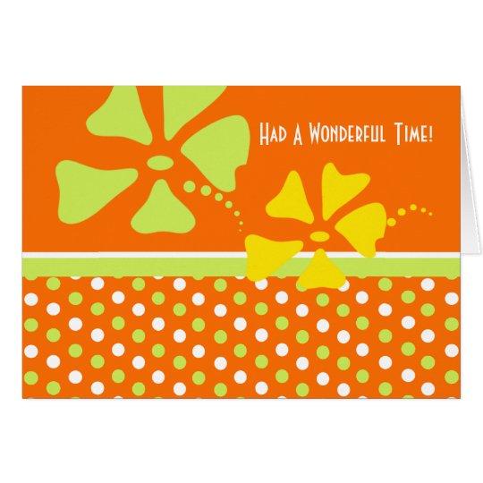 El naranja le agradece por tarjeta de la