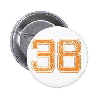 El naranja se divierte el número 38.png de Jerzee Chapa Redonda De 5 Cm