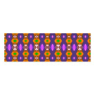 El naranja violeta encadena el modelo abstracto tarjetas de visita