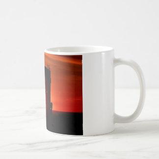 El naufragio de Peter Iredale en la puesta del sol Taza De Café