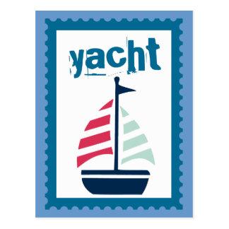 El navegar - barco de vela de la navegación del postal