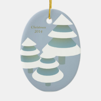 El navidad 2014 adorna óvalo ornato