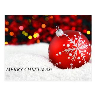 ¡el navidad adorna 3, FELIZ CHRSTMAS! Postal