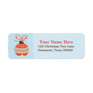 El navidad adorna etiquetas de encargo del remite etiqueta de remite