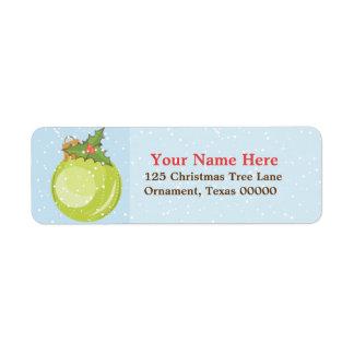 El navidad adorna etiquetas de encargo del remite etiqueta de remitente