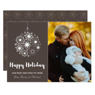 El navidad adorna la tarjeta feliz del   Holliday