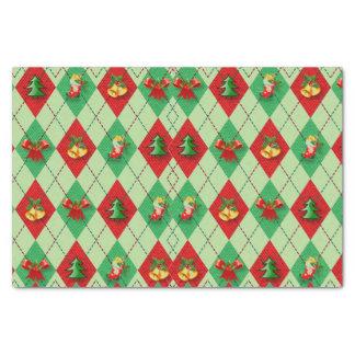 El navidad Argyle diseña el papel seda