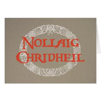 El navidad blanco del gaélico escocés enrruella el tarjeta