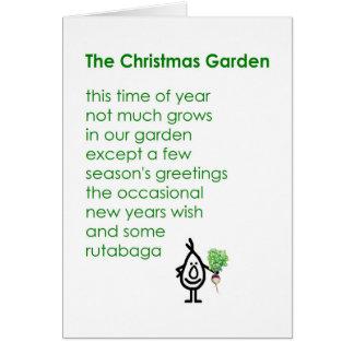 El navidad cultiva un huerto - un poema divertido tarjeton