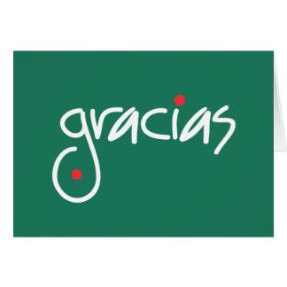 El navidad de Gracias le agradece en cualquier Tarjeta De Felicitación