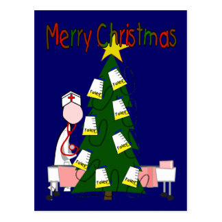 """El navidad de la enfermera diseña """"Felices Navidad Postal"""