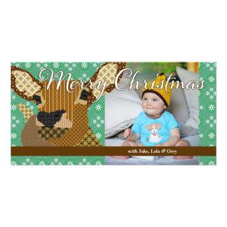 El navidad de Moses II pone verde la tarjeta de la Tarjeta Con Foto Personalizada