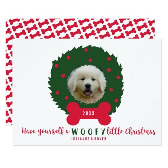 El navidad del amante divertido del perro invitación 12,7 x 17,8 cm