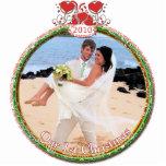El navidad del boda adorna nuestro 1r navidad esculturas fotograficas