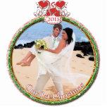 El navidad del boda adorna nuestro 1r navidad esculturas fotográficas