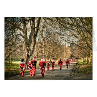 El navidad del padre el 10km corre en Greenwich, Tarjeton