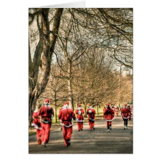El navidad del padre el 10km corre en Greenwich, Tarjeta De Felicitación