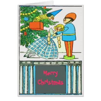 El navidad del vintage corrige el texto felicitación