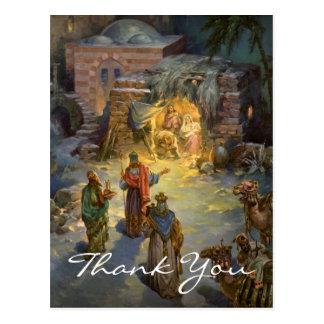 El navidad del vintage le agradece postal