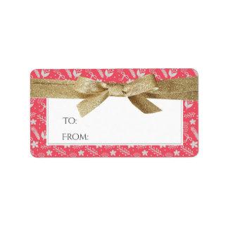 El navidad dirige o el regalo etiqueta la cinta etiquetas de dirección