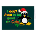 ¡El navidad divertido que no tengo que ser bueno y Tarjeton