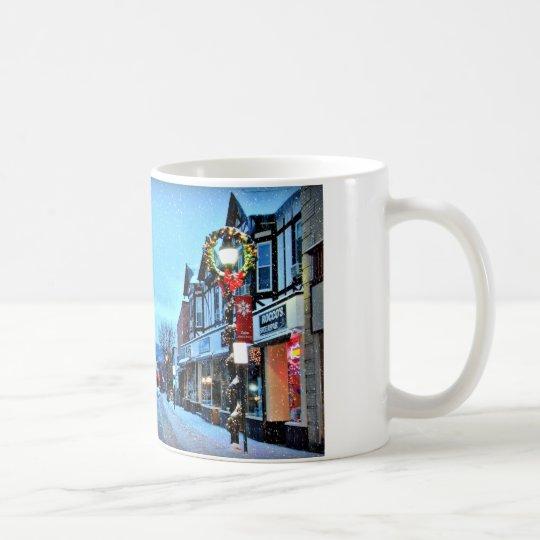 El navidad en el pueblo de Suffern diseña #2 Taza De Café