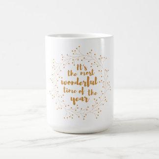 El navidad enrruella el tiempo maravilloso - de taza de café