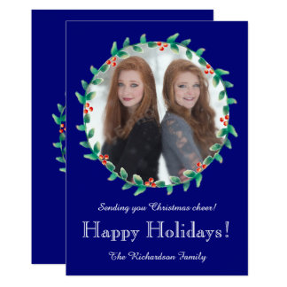 El navidad enrruella la tarjeta de la foto del invitación 12,7 x 17,8 cm