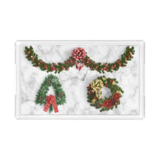 El navidad enrruella, pino, bandeja del diseño del