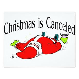 El navidad es Santa bebido cancelado Invitación 10,8 X 13,9 Cm
