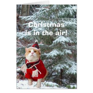 ¡El navidad está en el aire! Tarjeta
