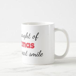 El navidad hace mi taza de la sonrisa del corazón