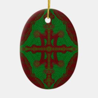 El navidad hace punto el ornamento ornamento para reyes magos