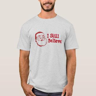 El navidad I todavía cree en la camiseta de Santa