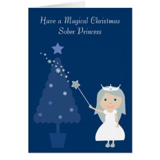 El navidad mágico calma la tarjeta de la princesa