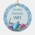 El navidad más grande de la esposa del mundo adorno de reyes