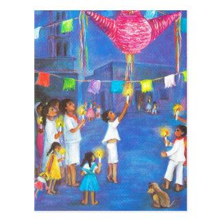 El navidad mexicano, decoraciones de la diversión, postal