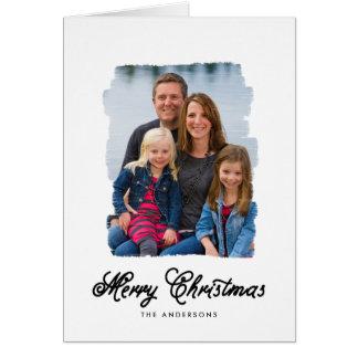 El navidad moderno pintó la tarjeta de la foto del